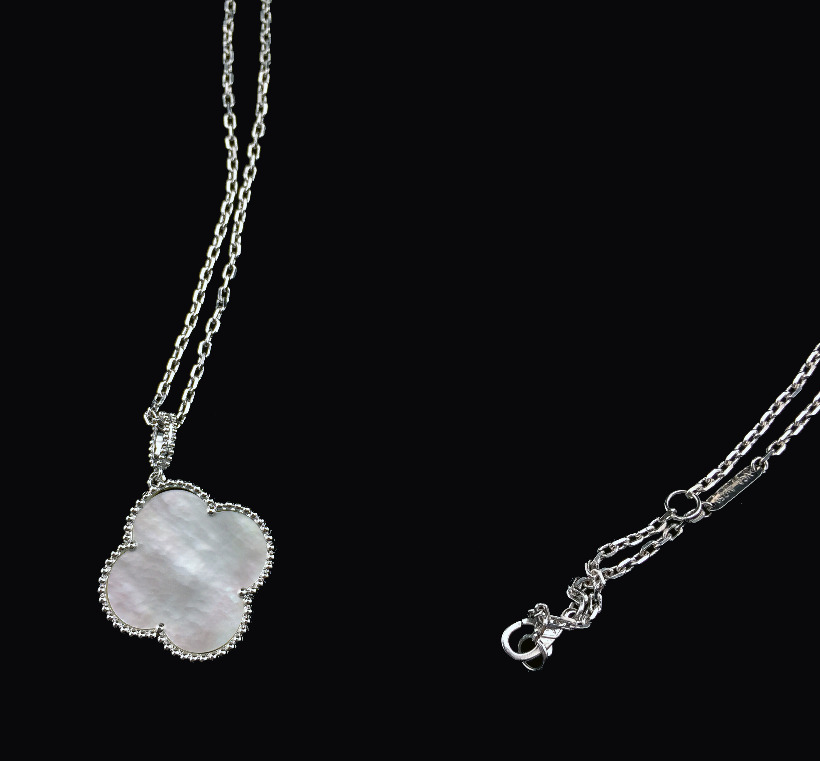 beaten pendant cream biba necklaces with shop freshwater a single home necklace heart silver from pearl
