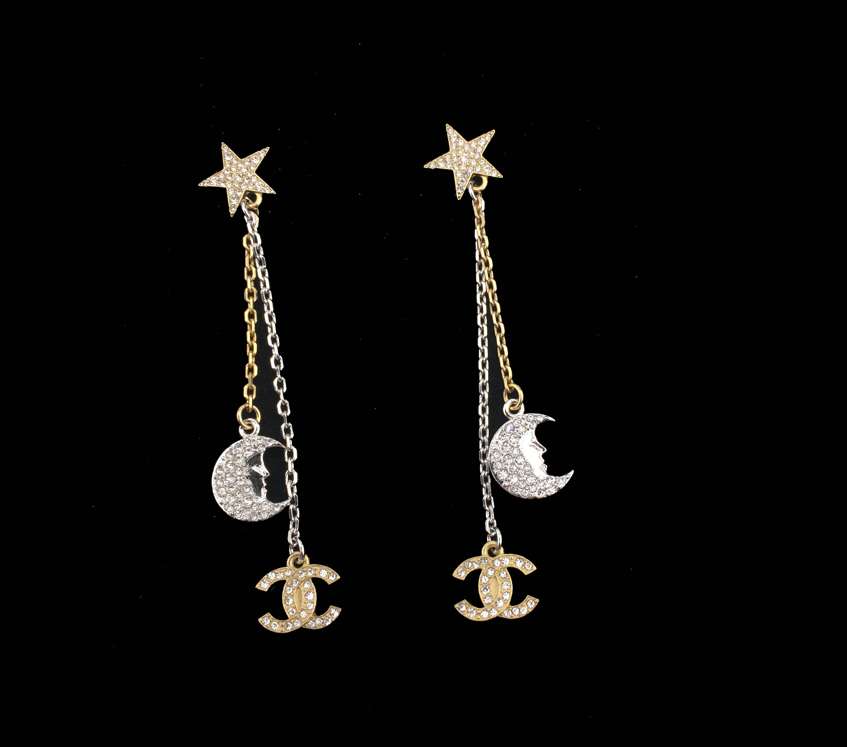 products crystal druzy devotionaluxe moon earrings half bone original